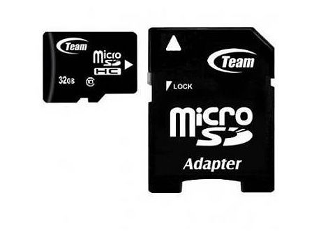 32GB Team MicroSDHC Class 10 + Adapter MicroSD->SD, Read 20MB/s Write 14MB/s, TUSDH32GCL1003 (card de memorie/карта памяти)