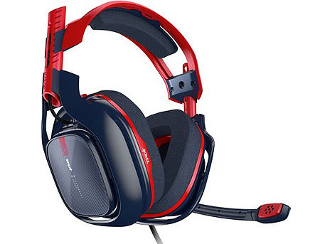 Logitech Astro Gaming A40 TR 10th Anniversary Red/Blue Gaming Headset, Open 40mm Sound Driver for Gaming, Headphone: 20Hz-20kHz, 939-001668 (casti cu microfon/наушники с микрофоном)