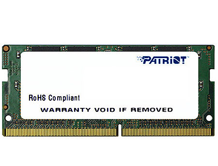 4GB SODIMM DDR4 Patriot Signature Line PSD44G240081S PC4-19200 2400MHz CL17, 1.2V