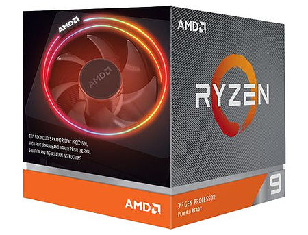 CPU AMD Ryzen 9 3900X 12-Core, 24 Threads, 3.8-4.6GHz, Unlocked, 64MB Cache, AM4, Wraith Prism with RGB LED Cooler, BOX