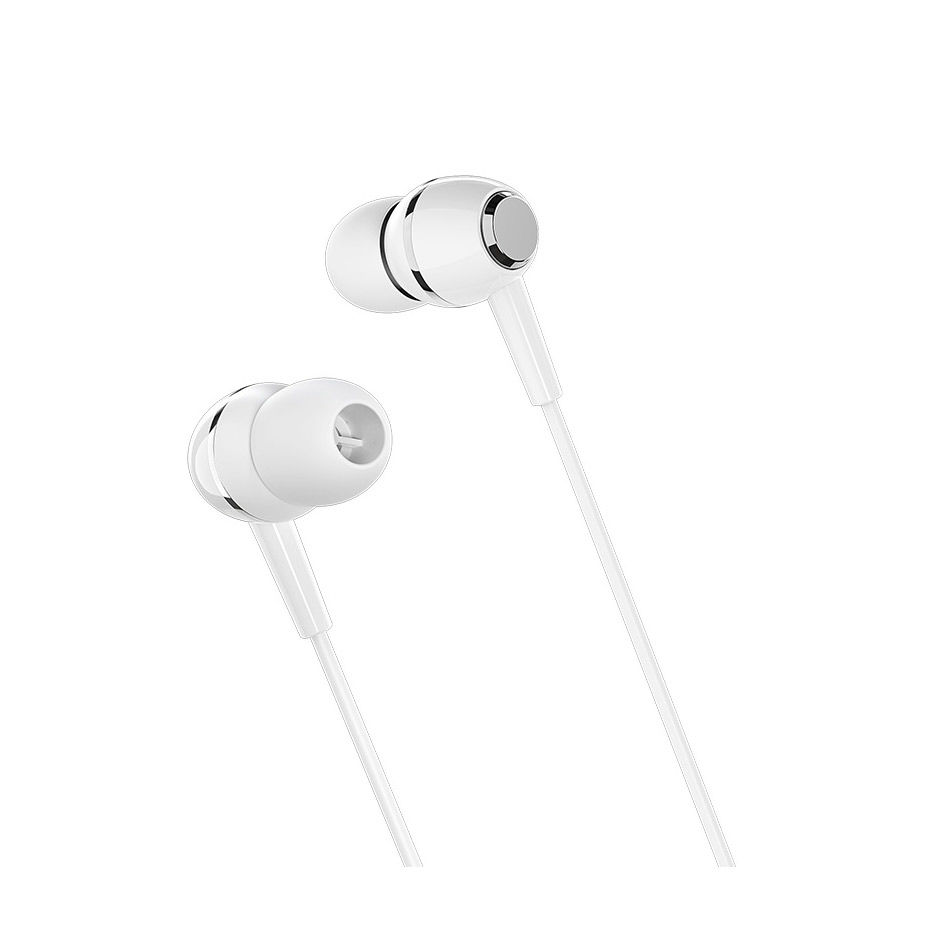 Borofone BM36 white (709707) Acura Universal earphones with mic, Speaker outer diameter 10MM, cable length 1.2m, Microphone, adapted to control Apple and Android