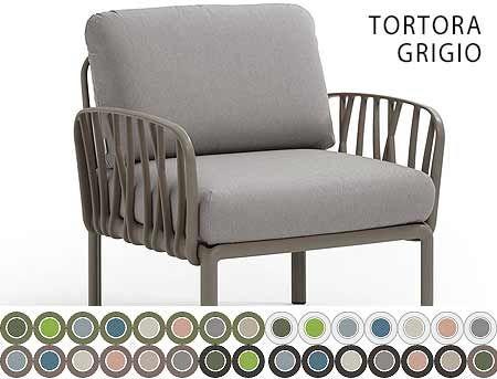 Fotoliu de gradina / de exterior Nardi KOMODO POLTRONA acrilic fabric (32 combinatii de culori)