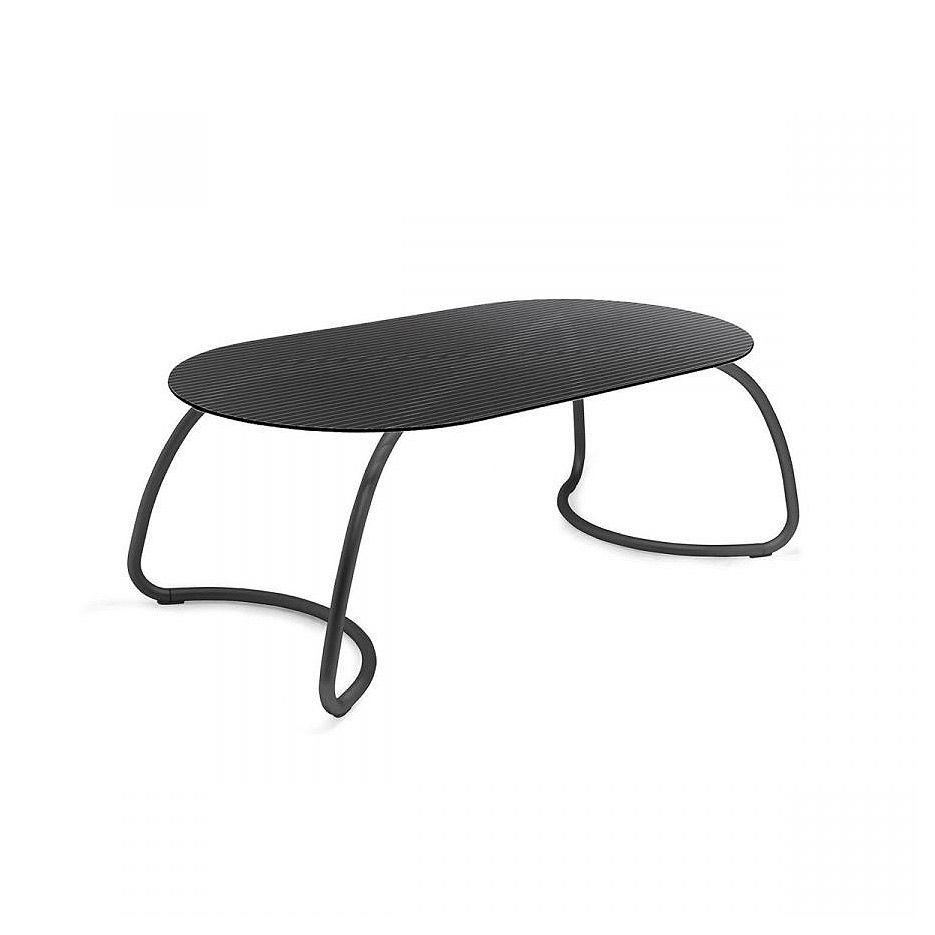 Стол стеклянный Nardi LOTO DINNER 190 ANTRACITE vern. antracite 44052.02.000 (Стол стеклянный для сада лежака террасы балкон)