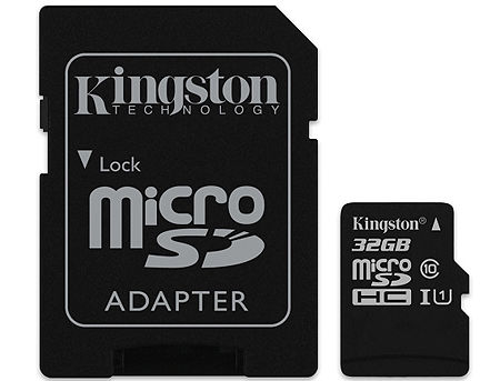16GB Kingston Canvas Select SDCS/16GB microSDHC, 80MB/s, (Class 10 UHS-I) + Adapter MicroSD->SD (card de memorie/карта памяти) www