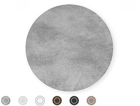 Top laminat rotund pentru masa NARDI diametrul 60cm (9 culori)