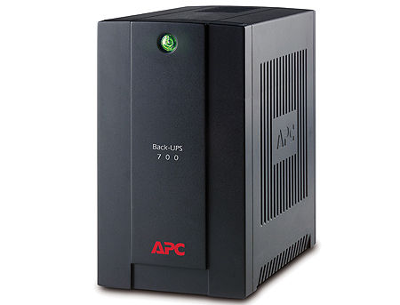 UPS APC Back-UPS BX700U-GR, AVR, 700VA/390Watts, Input: 140-300V, 50/60 Hz +/- 3 Hz (auto sensing), Line Interactive, Schuko Sockets
