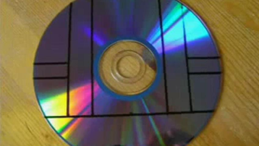 Подставка для телефона из диска