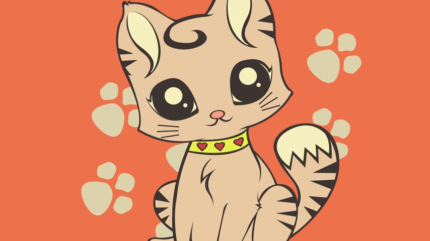 Нарисованные котики бесплатно