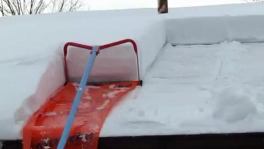 Уборка снега приспособления своими руками