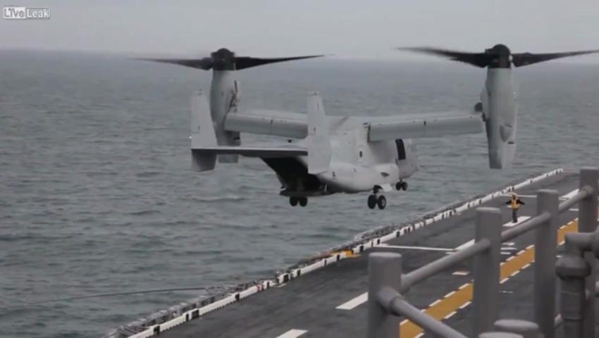 Взлет и посадка на палубе авианосца