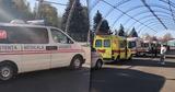 Возле центра COVID-19 в Кишиневе образовалась очередь из неотложек