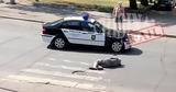 В Кишиневе машина полиции объехала мужчину, лежащего поперек дороги