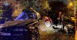 В результате ДТП в столице BMW превратился в груду металлолома