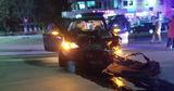 В Вулканештах в ночном ДТП столкнулись три автомобиля