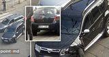 При столкновении автомобилей в центре столицы серьезно пострадал пешеход