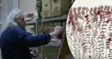 Украинский художник рисует картины молдавским вином