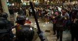 В Каталонии за два дня протестов пострадали более 70 полицейских