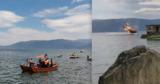 В Китае вертолет упал в озеро: Два человека погибли