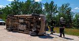ДТП в Сынжерей: спасатели вызволяли зажатого в микроавтобусе водителя