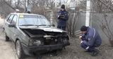 В Бельцах загорелся автомобиль ВАЗ