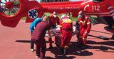 Вертолёт SMURD доставил в Кишинёв пострадавшего в ДТП жителя Единец
