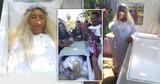 Женщина провела репетицию собственных похорон: с катафалком и гробом