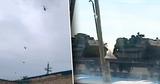 На границе с Украиной заметили много танков и ударных вертолетов России