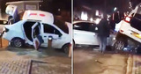 ДТП в столице: Машина такси оказалась на капоте Audi