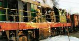 В Рыбнице загорелся локомотив