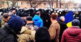 Украинская полиция арестовала участников протестов в Новых Санжарах