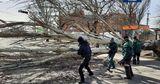 Спасатели показали последствия урагана в Украине