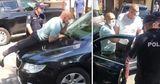 Протест у президентуры: депутат Чеботарь оказался на капоте автомобиля