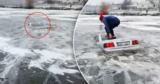 В Молдове владелец Audi утопил автомобиль в водоеме