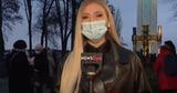 На журналистку в Киеве напали в прямом эфире