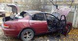 В Бендерах средь бела дня сгорел автомобиль
