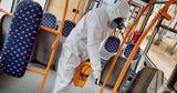 Столичные троллейбусы проходят регулярную дезинфекцию