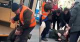 Пьяный мужчина набросился на водителя столичного троллейбуса