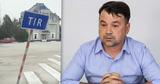Экс-глава Пограничной полиции сбил дорожный указатель на КПП Паланка