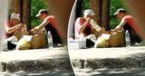 Уличные торговцы продают разбавленное магазинное молоко как домашнее