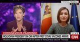 Санду на CNN: Нам трудно противостоять пандемии, сложно получить вакцину