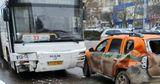 ДТП на Ботанике: столкнулись автобус и инкассаторская машина