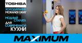 Maximum: Модный холодильник Toshiba в цвете Morandi Gray ®
