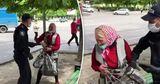 В полиции объяснили видео со старушкой, которую хватали за руки