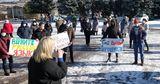 В Окнице и Бричанах прошли митинги: «Верните русский язык!»
