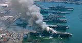 На десантном корабле ВМС США на базе в Сан-Диего случился пожар