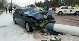 В Сороках водитель BMW снес столб
