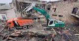 Работы по демонтажу поврежденных конструкций филармонии близятся к концу