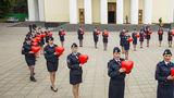 Полицейские провели в Кишиневе флешмоб ко Всемирному дню сердца