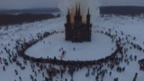Православные возмутились сожжением католического храма