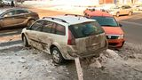 В центре Кишинева в результате ДТП упал указатель улиц